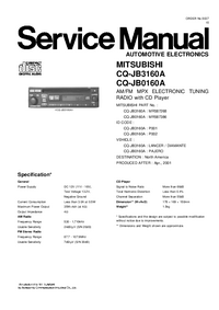 Manual de servicio Mitsubishi MR587386