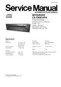 manuel de réparation Mitsubishi A9000RCX01