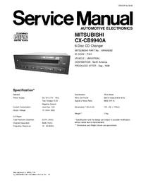 Servicehandboek Mitsubishi MR490082