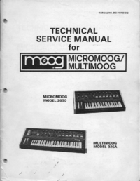 Service Manual Moog Multimoog