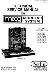 Manual de serviço Moog System III