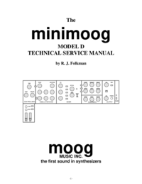Manuale di servizio Moog minimoog D