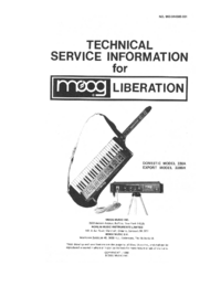 Manual de servicio Moog Liberation 338BX