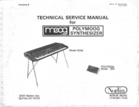 Manual de servicio Moog Polymoog 203A