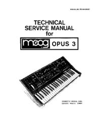 Manuale di servizio Moog OPUS 339A