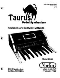 Service Manual Moog Taurus 205A