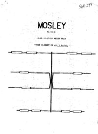 Manuale d'uso Mosley TA-53-X