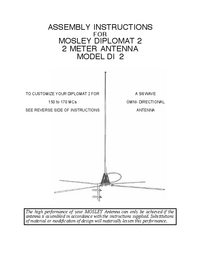 User Manual Mosley DIPLOMAT 2