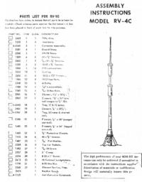 Gebruikershandleiding Mosley RV-4C
