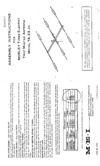 User Manual Mosley TA-33Jr