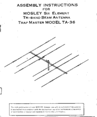 Manual del usuario Mosley Trap Master TA-36