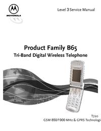 Manuale di servizio Motorola B65