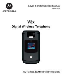 Service Manual Motorola V3x