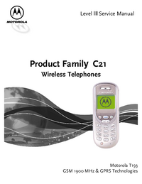 Service Manual Motorola Product Family C21