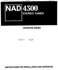 Руководство пользователя NAD 4300