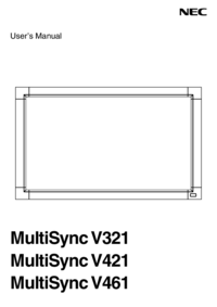 User Manual NEC MultiSync V461