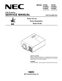 Service and User Manual NEC VT440J