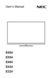 User Manual NEC E654