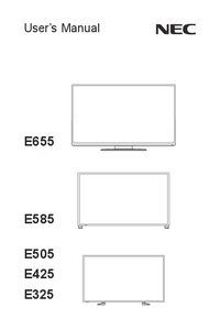 User Manual NEC E325