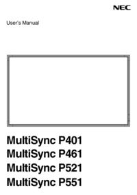 Manual del usuario NEC MultiSync P401