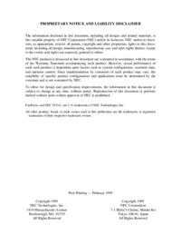 Manual de serviço NEC Versa P