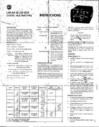 Scheda tecnica NLS LM-4A