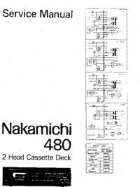 Руководство по техническому обслуживанию Nakamichi 480