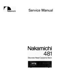 Servicehandboek Nakamichi 481