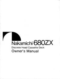 User Manual Nakamichi 680ZX