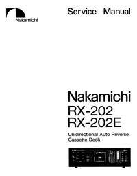 Manuale di servizio Nakamichi RX-202