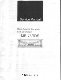 Serviceanleitung Nakamichi MB-75RDS