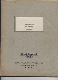 Service Manual National NC-1-10