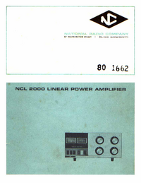 Service Manual National NCL 2000