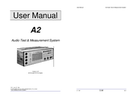 User Manual Neutrik A2