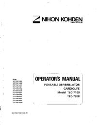 Руководство пользователя NihonKoden TEC-7200