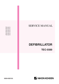 Instrukcja serwisowa NihonKoden TEC-5531