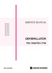 Руководство по техническому обслуживанию NihonKoden TEC-7721