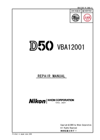 Instrukcja serwisowa Nikon D50