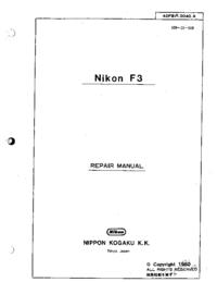 manuel de réparation Nikon F3