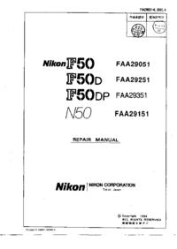manuel de réparation Nikon F50DP