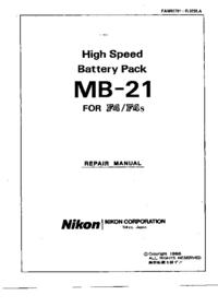 Manuale di servizio Nikon MB-21