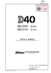 Instrukcja serwisowa Nikon D40