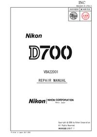 Manuale di servizio Nikon D700