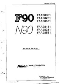 manuel de réparation Nikon N90