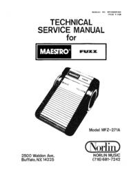 Servicehandboek Norlin Maestro Fuzz MFZ-271A