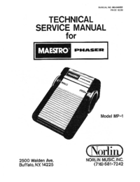 Manual de servicio Norlin MP-1