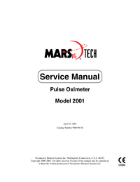 Service Manual Novametrix Model 2001