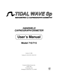 User Manual Novametrix TIDAL WAVE Sp Model 710