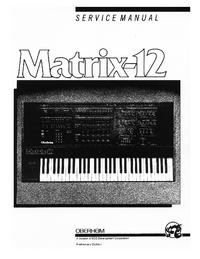Service Manual Oberheim Matrix-12