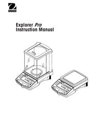 Bedienungsanleitung Ohaus Explorer Pro